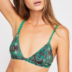 Free People Hazel Bralette in Green Combo